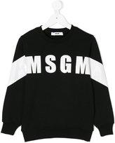 MSGM logo print sweatshirt - kids - Cotton - 4 yrs
