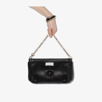 Maison Margiela Black Glam Slam padded leather shoulder bag