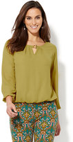 New York & Co. Hardware-Accent Keyhole Blouse