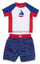 Baby Buns 2-Piece Americana Rashguard Set in Red/White/Blue