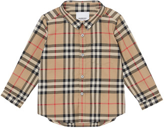 Burberry Boy's Fred Check Shirt, Size 6M-2