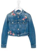 Ermanno Scervino floral embroidery denim jacket