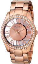 Kenneth Cole New York Women's KC4852 Transparency Rose Transparency Analog Ladies Watch