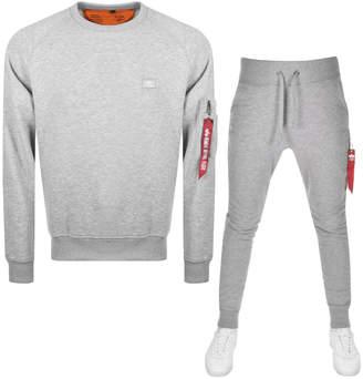 Alpha Industries X Fit Slim Tracksuit Grey
