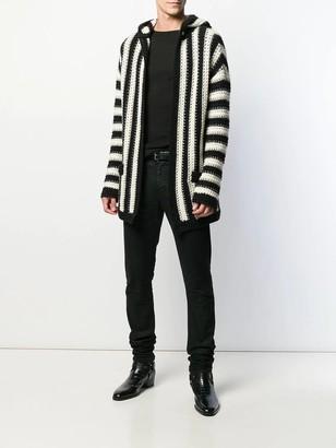 Saint Laurent Long Sleeve Ribbed T-shirt Black