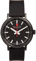 Mondaine Stop2go Brushed-steel Watch - Black