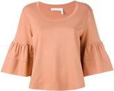 See by Chloe flared sleeve sweatshirt - women - Cotton - S