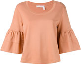 See by Chloe flared sleeve sweatshirt - women - Cotton - XS