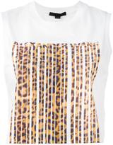 Alexander Wang leopard bonded barcode tank top - women - Cotton - XS