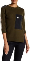 Marc by Marc Jacobs Wool Military Leopard Long Sweater