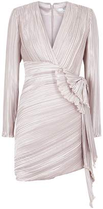 Givenchy Grey Plisse Satin Dress