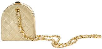 One Kings Lane Vintage Chanel Gold Evening Bag - Vintage Lux