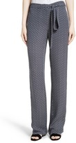 Theory Women's Brilda Geo Print Silk Pants