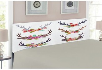 East Urban Home Antlers Upholstered Panel Headboard Size: Queen