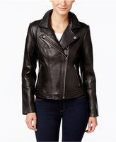 MICHAEL Michael Kors Asymmetrical Leather Jacket