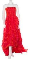 Oscar de la Renta Ruffled Evening Gown