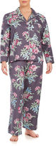 Carole Hochman Plus Size Printed Flannel Long Sleep Set