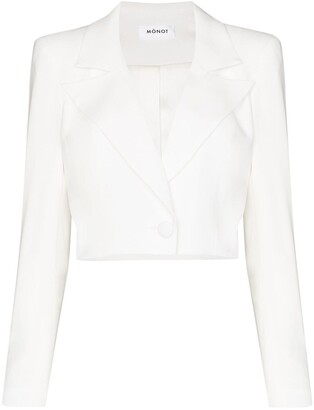 Mônot Cropped Single-Breasted Blazer