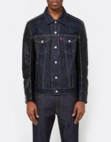 Junya Watanabe Cotton Denim x Synthetic Leather Levi's Jacket