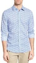 Gant Men's Flower Print Fitted Sport Shirt