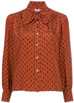 Celine Vintage printed pussy bow blouse