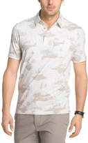 Van Heusen Short Sleeve White Washed Printed Polo Shirt