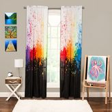 Crayola Cosmic Burst 84-Inch Rod Pocket Window Curtain Panel in Black