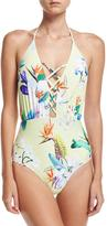 6 Shore Road La Piscina Lace-Up One-Piece Swimsuit