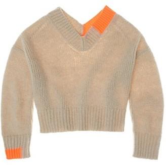 Helmut Lang Camel V-Neck Sweater