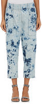 Victor Alfaro Women's Tie-Dyed Denim Crop Pants