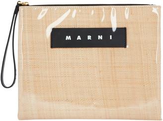 Marni Glossy PVC Raffia Pouch