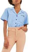Topshop Dreamer Chambray Shirt (Regular & Petite)