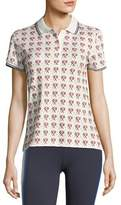 Tory Sport Flocked Short-Sleeve Printed Polo Shirt
