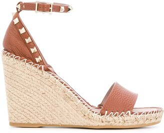 Valentino Rockstud double wedge sandals