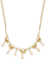 INC International Concepts Catherine Stein for Gold-Tone Imitation Pearl Multi-Bead Long Double Strand Necklace, Only at Macy's