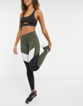 Reebok Training leggings in khaki