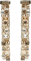 Lanvin Gold and Crystal Skinny Clip-on Earrings