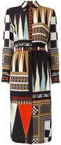 Etro geometric print shirt dress - women - Silk - 48