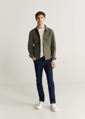MANGO MAN - Colour denim jacket khaki - XL - Men