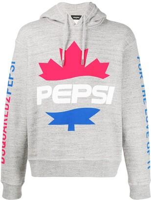 DSQUARED2 #D2XPepsi logo print hoodie
