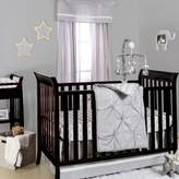 The Peanut Shell Pintucked Crib Bedding Collection in Grey