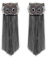 Forest of Chintz Gray What A Hoot Earrings