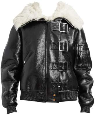 Altuzarra Durham Fur-Collar Buckled Leather Jacket
