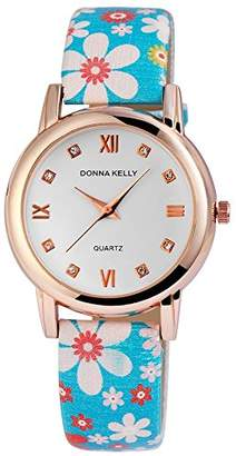 Donna Kelly Womens Analogue Quartz Watch with Leather Strap 191233100006