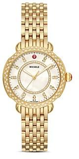 Michele Sidney Classic Diamond Watch, 33mm