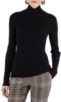 Akris Punto Women's Stretch Wool Crisscross Turtleneck