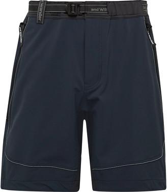 and wander Trek Belted Jersey-Trimmed Zgrav Shorts
