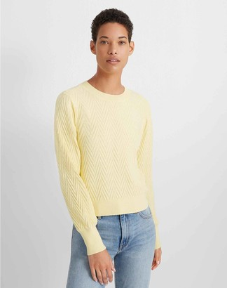 Club Monaco Chevron Blouson-Sleeve Sweater