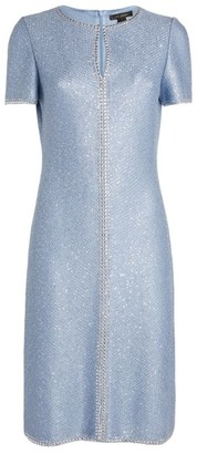 St. John Embellished Keyhole Dress