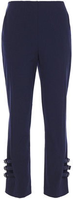 Jonathan Simkhai Buckled Twill Slim-leg Pants
